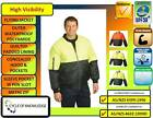 Safety Workwear; Hi Vis; Bomber Flying Jacket; Full front zip; Sizes S to 7XL