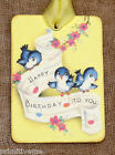 Hang Tags  RETRO BLUE BIRD BIRTHDAY TAGS or MAGNET #574  Gift Tags
