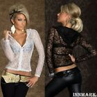 734 CLUBBING ZIP LACE LONG SLEEVE HOODED CROPPED WAIST JACKET SHORT TOP INNMARK