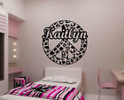 Personalized Cheetah Spot Peace Sign Vinyl Wall Decal Sticker