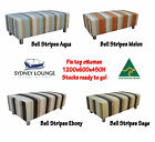 OMG Monthly - Brand New AUS-MADE Stripe Ottoman 1200x600 Lounge Sofa Footstool
