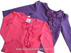 NEW Girls Long Sleeve CottonTop/Tees Bow Frills Sz 1-7Yr  Purple - Pink