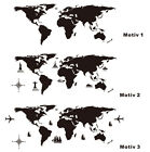 WandTattoo Wandtatoo wandfolie Weltkarte World Map 3 Motive motifs zur Wahl WST5