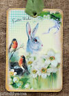 Hang Tags  EASTER WISHES BUNNY ROBIN TAGS or MAGNET #314  Gift Tags