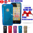 GRIP S-LINE SILICONE GEL CASE & FREE SCREEN PROTECTOR FITS APPLE IPHONE 5