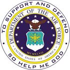 U.S. Department of Air Force Wall Window Vinyl Decal Sticker Military