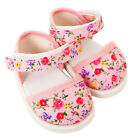FRILLY LILY PINK FLOWER PARTY SANDALS FOR DOLLS, LOTS OF SIZES !