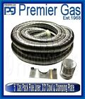 """Gas Pack - 5"""" Stainless Steel Flexible Flue Liner GC1 Cowl & Clamping Plate"""