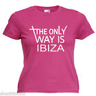 Ibiza Ladies Lady Fit T Shirt 13 Colours Size 6 - 16