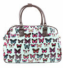 Ladies Oilcloth Owl Print Tote Holdall Weekend Bag Travel Bag