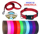 Deluxe Nylon Dog Collar and Leash Set (Various colors & sizes available!!)