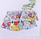 2 x Cartoon Mickey/Cars/Angry/Bob Boys Children Boxer Brief Underwear 5-12 Years