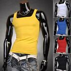 PJ Fashion Designer Korean Men's Slim Fit Tank Top Vest 4 Size S M, L , XL Hot