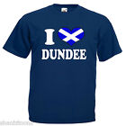 I Love Heart Dundee Scotland Adults Mens T Shirt 12 Colours Size S - 3XL