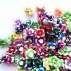 30/40/50pcs Fimo Polymer Clay Plumeria Flower Charm Bead Fit Bracelet 12mm