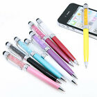 8 Color Crystal 2-in-1 Touch Screen Stylus Ballpoint Pen for IPad IPhone Tablet