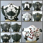 UW18 Punky Restraint Bondage Half Mask Black/White Rock Halloween Costum Stud