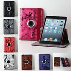 New 360 Rotating Flower Pattern PU Leather iPad Case Cover For Apple iPad Mini