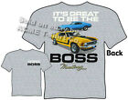 69 70 Boss Mustang T Shirt 1969 1970 Ford Clothes Fastback Tee Ponycar Apparel