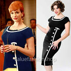 Womens Vintage Pinup Retro Tunic Party Sheath Bodycon Shift Pencil Work Dress