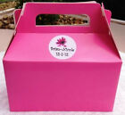 6 Pink Cookie/Candy Favor Boxes w Handles Personalized 4 Baby Shower..Birthday