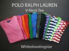 NWT Polo Ralph Lauren Sport Perfect Short Sleeve Pony V Neck T-Shirt Tee