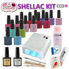 CCO UV Nail Gel Starter Kit Any 47 Colours 36W UV Lamp for DIY Shellac Gift Set