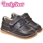 Boys Infant Toddler - Leather Squeaky Shoes - Dark Brown - Wide Fit