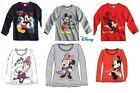 Disney Mickey Mouse, Minnie Mouse & Daisy Duck T-shirts from age 4-8.
