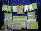 Baby Clothes Shower Party Set  # 16 Baby Shower Supplies for 16 w Cake Candles