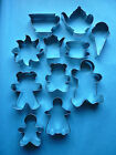 Tea Party Cookie Cutters - Teapot,Teacup,Gingerbread, Ice Cream Cone,Teddy Bears