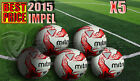 5 x NEW 2015 MITRE IMPEL WHT/RD/BLK TRAINING FOOTBALL SIZE 3,4,5 (32 PANEL BALL)