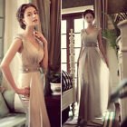 Prom Gown Sexy Bridesmaids Formal Party Evening Cocktail Chiffon Long Maxi Dress