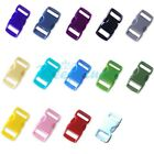 "3/8"" (10mm) Colorful Contoured Side Release Plastic Buckle For Paracord Bracelet"