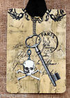 Hang Tags  FRENCH PARIS SKULL SKELETON KEY TAGS or MAGNET #707  Gift Tags