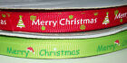 Christmas Grosgrain Ribbon Choice of Design 10mm 16mm 22mm 1 2 5 10 yards