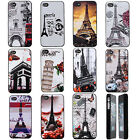 Paris Eiffel Tower Snap On Hard Case Cover Skin Protector for Apple iPhone 4 4S