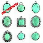 Fashion Silver Plated Pendant Tray Cabochon Setting  Different Size FREE SHIP