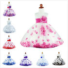 NEW Flower Girls Party Dress with Flower Petals New Colours avaliable Sz 00-8