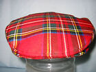 GENTS PURE WOOL ROYAL SCOTTISH TARTAN FLAT CAP / DRIVING HAT MADE IN BRITAIN