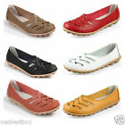 New Casual Women Leather Ballet Flats Shoes Oxfords Slip On Lady Loafers Comfort