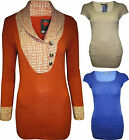 WOMENS NEW LADIES LONG CAP SLEEVE CABLE KNITTED JUMPER TOP SIZE /8 10 12 14