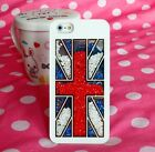Luxury Bling Diamonds Crystal British Flag Case Cover For iPhone4 4S 5 5S 45SFG