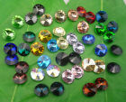 10mm satellite shape Glass Color Faceted Glass Round Jewels silver bottom 50pcs