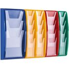8 x (1/3xA4) Wall Mounted Leaflet Dispenser choice of 7 colours clear fronted