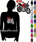 LADY LADIES LADYFIT BIKER T-SHIRT - TRIUMPH 675 STREET TRIPLE