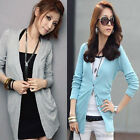 Ladies Womens Casual Long Sleeve Knitted Soft Cardigan Shirt Tops Coat Sweater