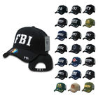Embroidered Law Enforcement Agencies Justice US USA Baseball Caps Hats Unisex