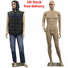 New Realistic Skin Tone Full Body Size Male Mannequin 187 cm with metal stand