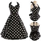 New Polka dot Swing pinup Vintage Style Rockabilly Evening Party Ladies Dress